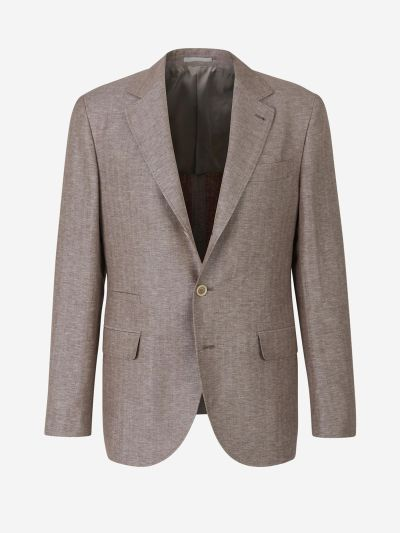 Straight Herringbone Blazer
