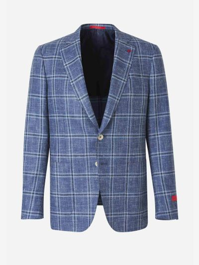 Straight checked blazer