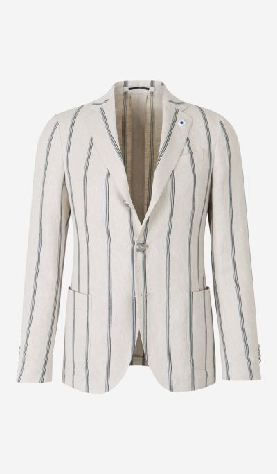 Straight Striped Blazer