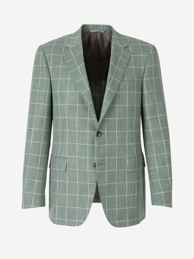 Two-Button Checked Blazer