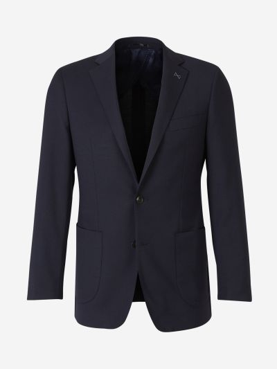 Stretch-Fit Wool Suit Jacket