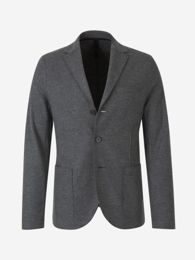 Virgin Wool Knit Blazer