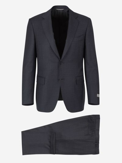 Wool classic fit suit