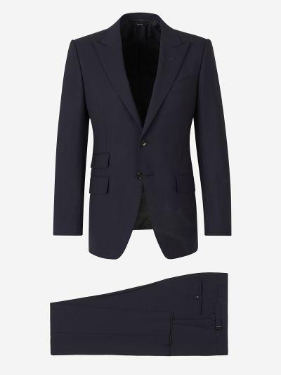 Straight Wool Suit