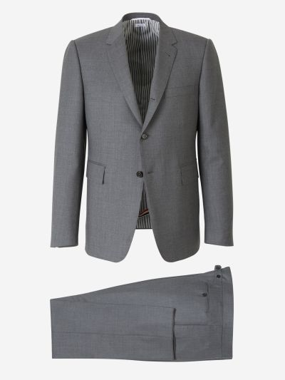 Wool Suit with Matching Tie