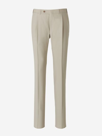 Wool Trousers With Darts