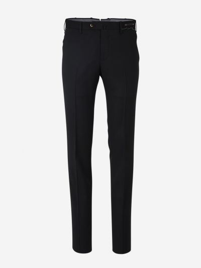 Wool slim trousers