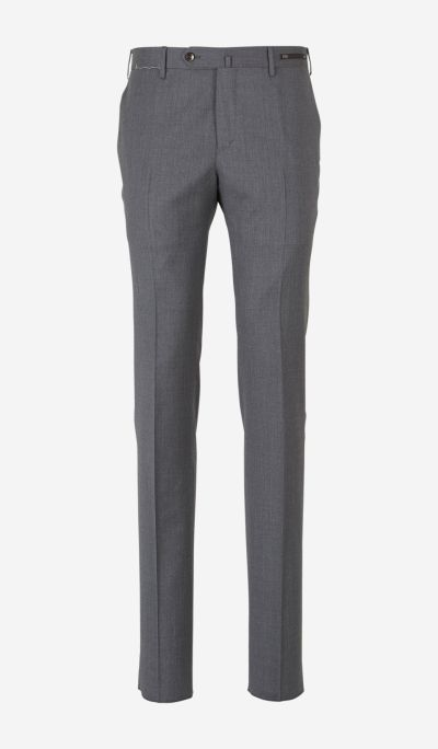 Wool slim trousers