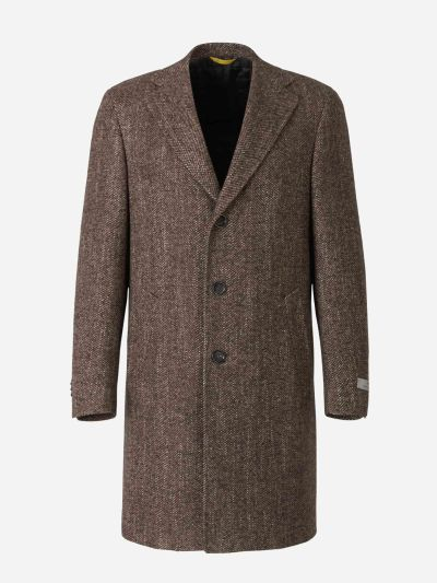 Herringbone Wool Coat