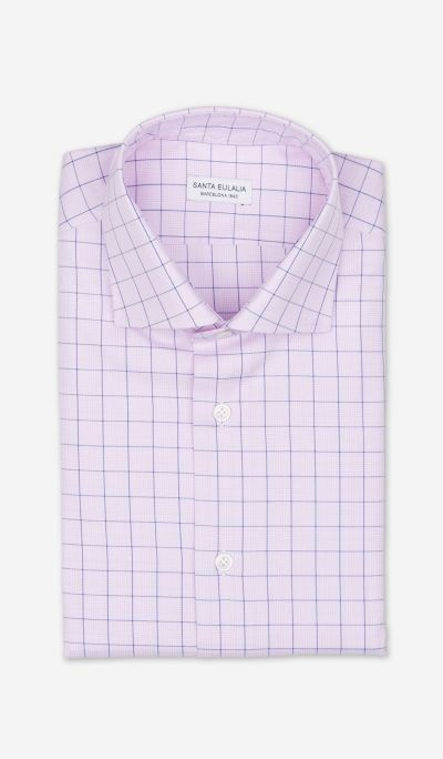 Checkered poplin shirt