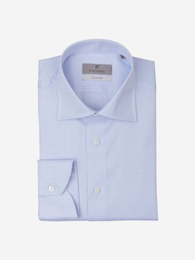 Cotton shirt with a micro dot pattern