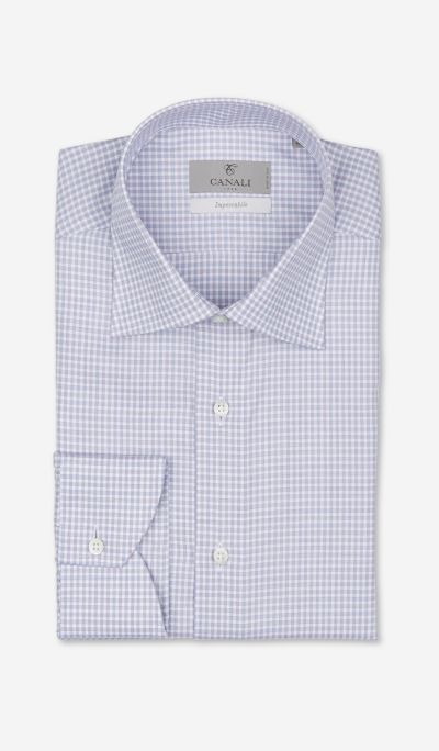 Checkered cotton shirt