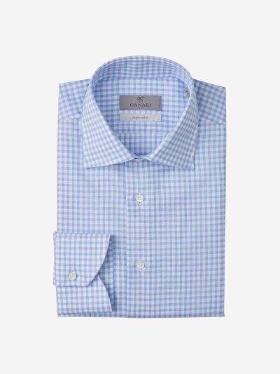 Checked Cotton-Linen Shirt