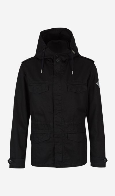 Military jacket with hood