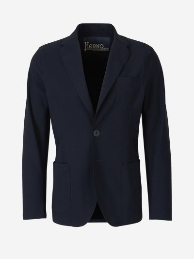 Scuba straight-cut blazer