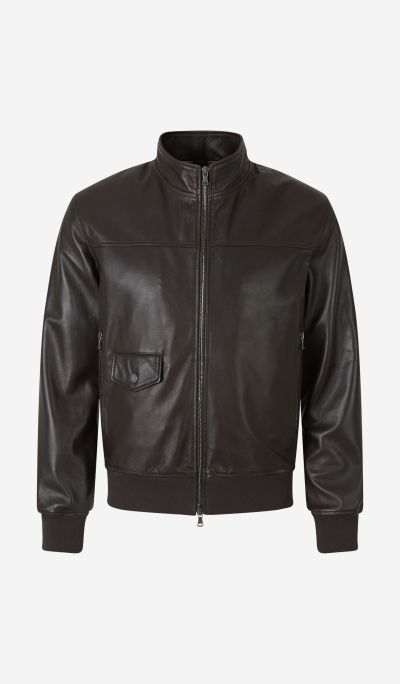 Zip-up Leather Jacket