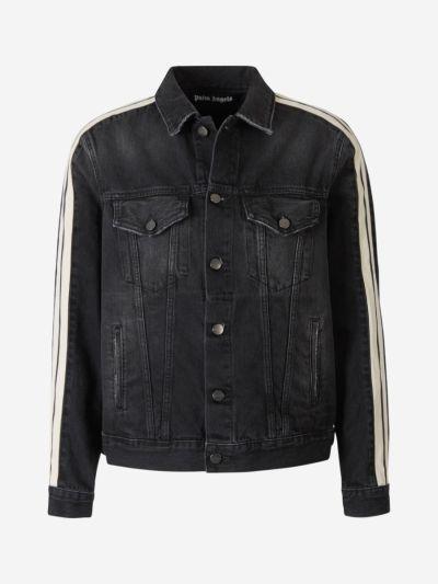 Striped Detail Denim Jacket