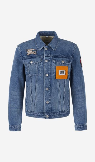 Logo denim and sweatshirt jacket