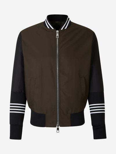Bicolor Bomber Jacket