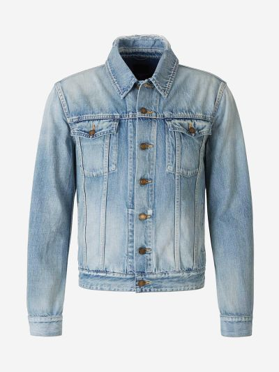 Aged Effect Denim Jacket