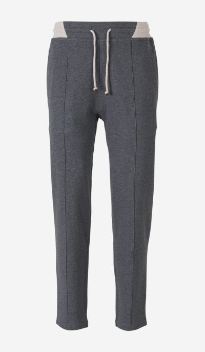 Zipped Cotton Knit Joggers
