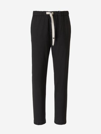 Elastic Waist Wool Pants