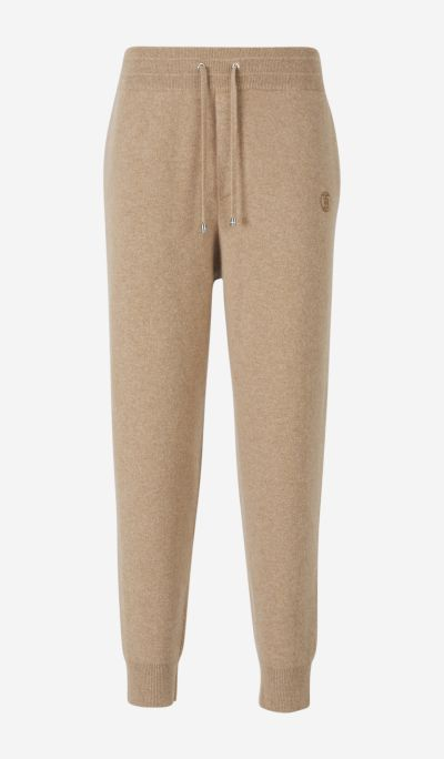 Cashmere knitted joggers