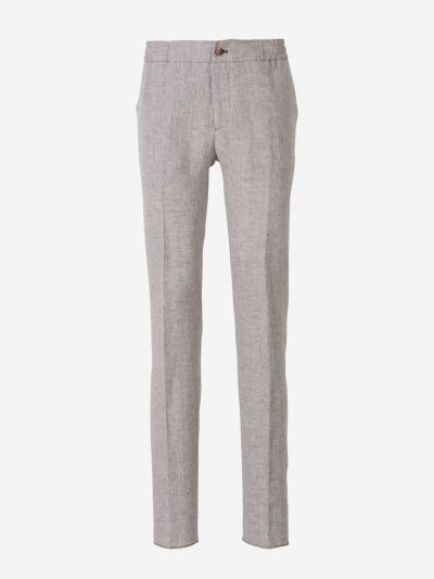 Linen Elasticated Waist Trousers