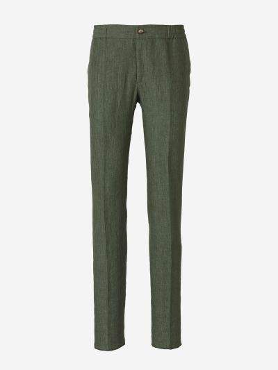 Linen Elasticated Waist Trousers