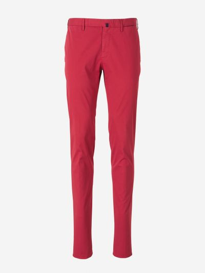 Tight Fit Cotton Trousers