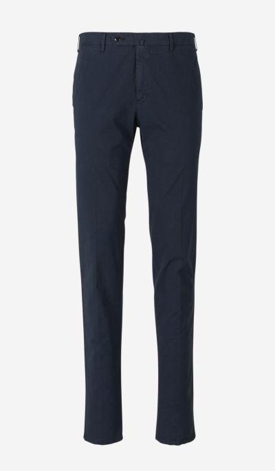 Microprint Cotton Trousers