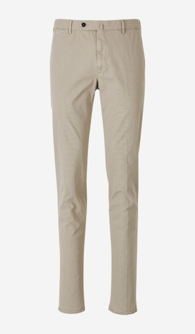 Microprint Cotton Trousers