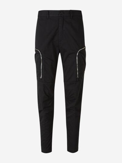 Side zipped joggers