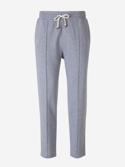 Heather Cotton Joggers