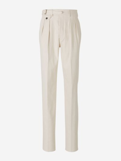 Cotton And Linen Formal Pants