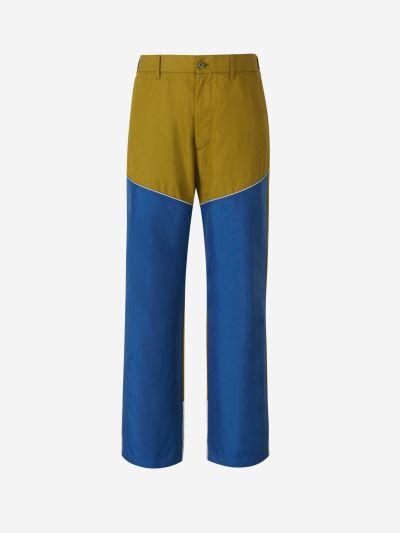 Pantalones Contraste Algodón