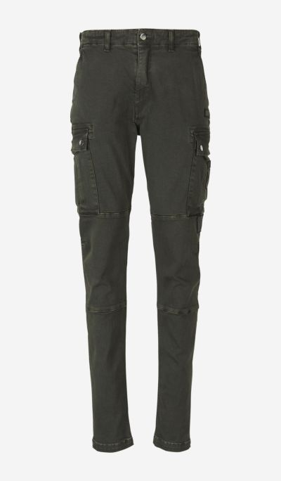 Military jeans with pockets