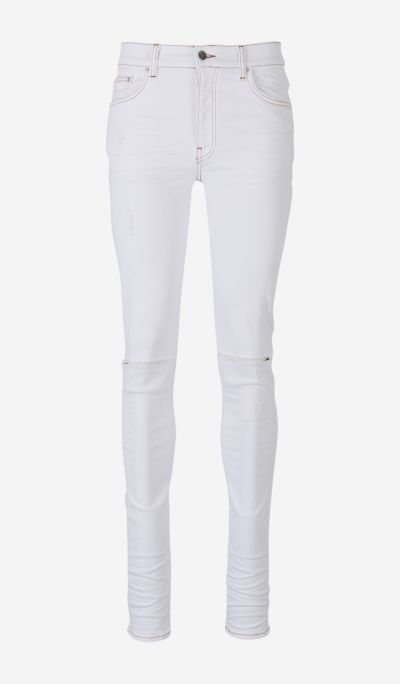 Amiri Jeans Vintage White