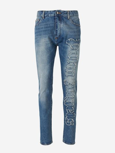 Indaco Over Logo Jeans
