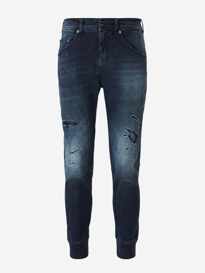 Ribbed Cuffs Jeans