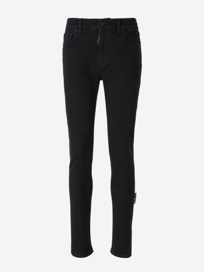 Jeans Franges Diagonals