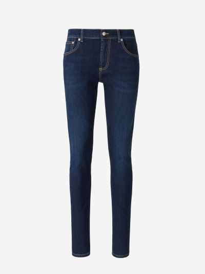 Jeans Rectes Logo Brodat