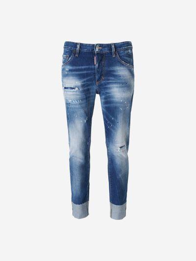 Jeans Desgastat Grafiti