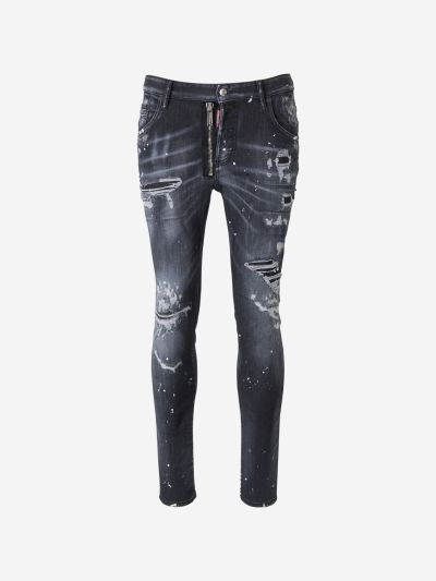 Zipper Detail Jeans