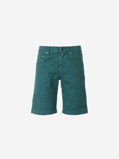 Checked Cotton Bermuda Shorts