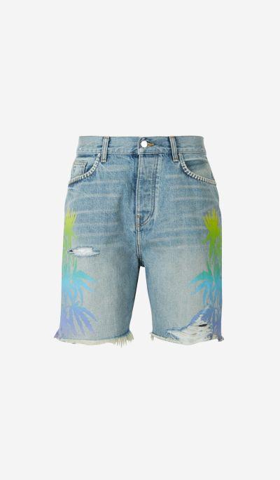 Denim Leaves Shorts