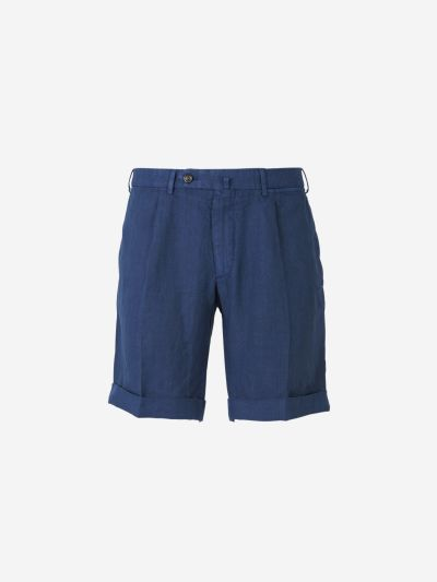 Regular Linen Bermuda Shorts