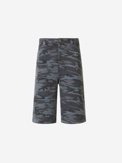 Military print shorts