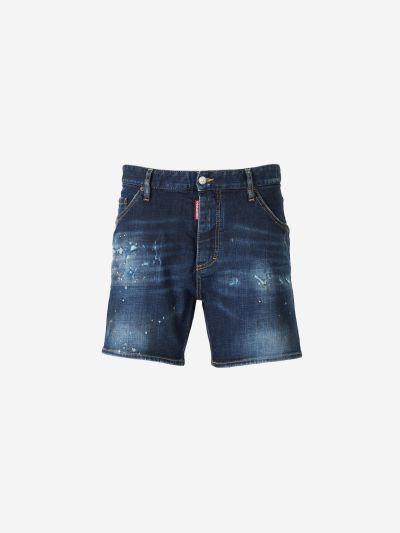Paint Denim Shorts
