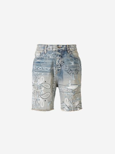 Shorts Denim Bandana